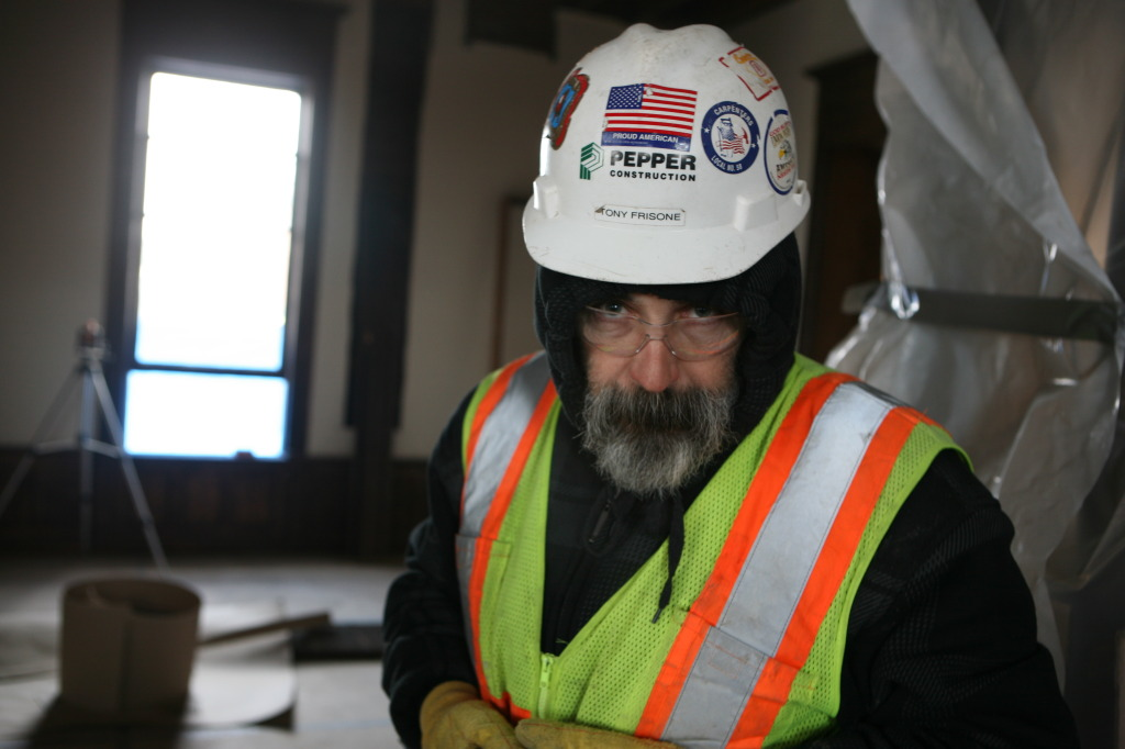 Tony Frisone, Construction Foreman for Pepper Construction