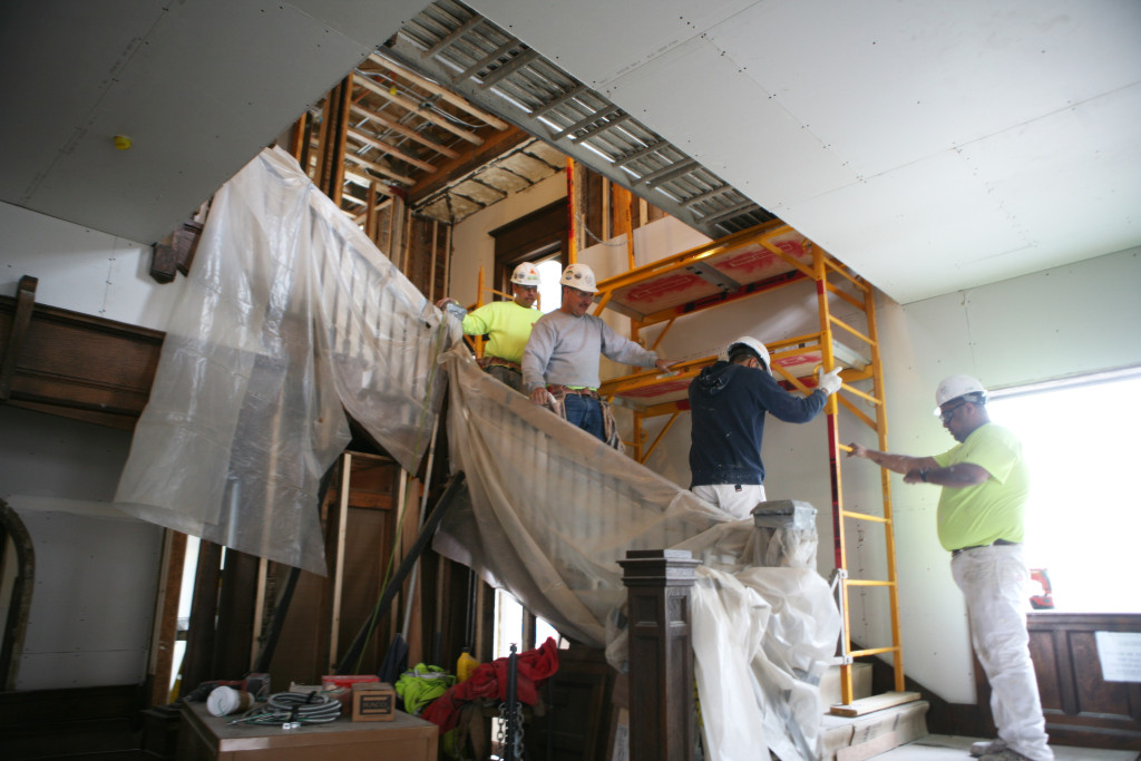 The main staircase will extend to the third floor.