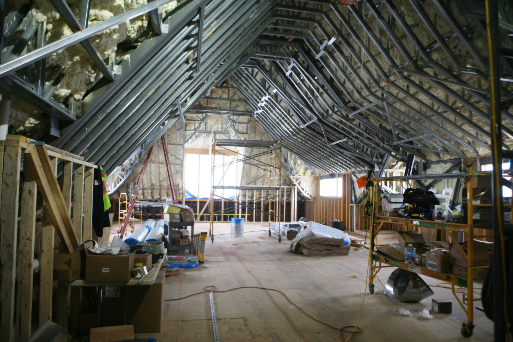 The third floor ballroom will seat up to 150.