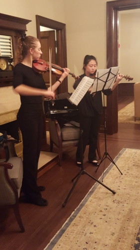 Barrington White House cultural event violinist