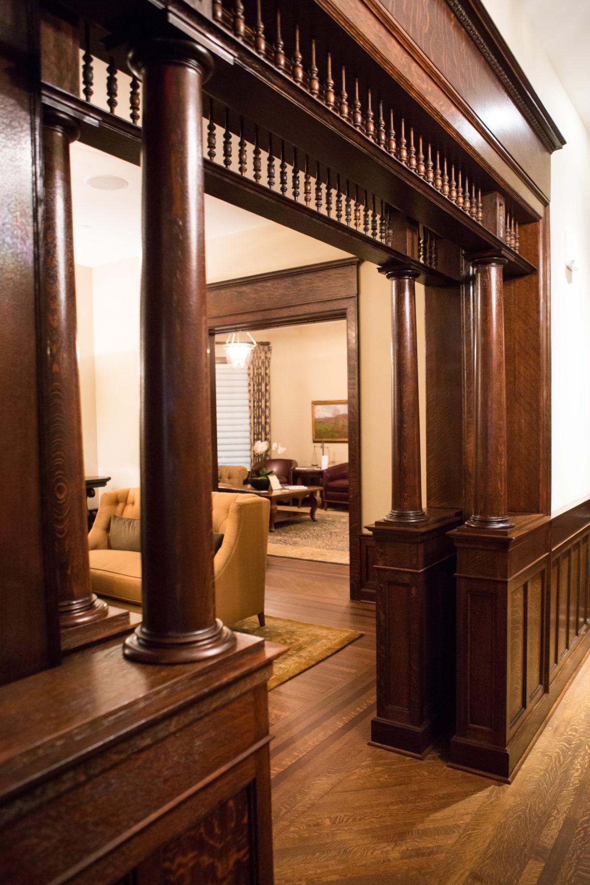 1st Floor pocket doors at Barrington's White House