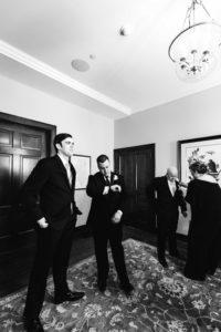 Barrington White House wedding in grooms room